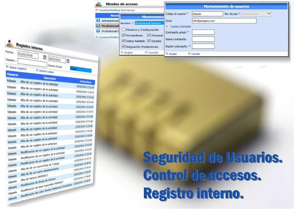 ASISGES.COM Seguridad de usuarios.